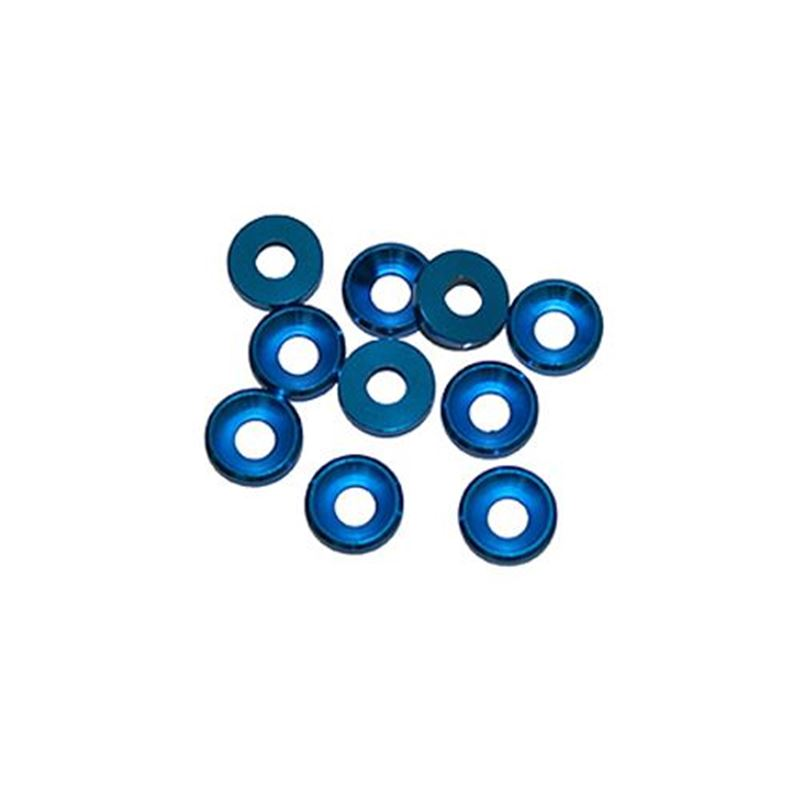 Picture of Ultimate Racing Aluminum Washer (4mm) (Blue) (10pcs)