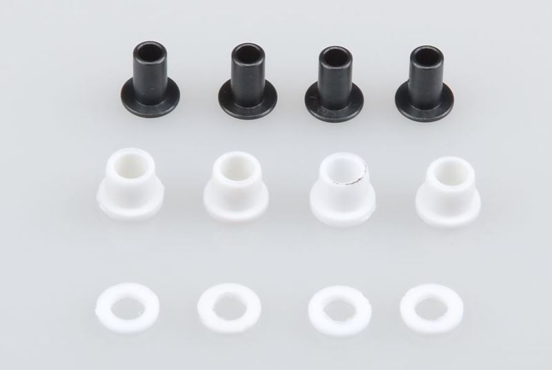 Picture of THE JQRacing White One Piece CNC Shock Cap Mounting Hardware Set