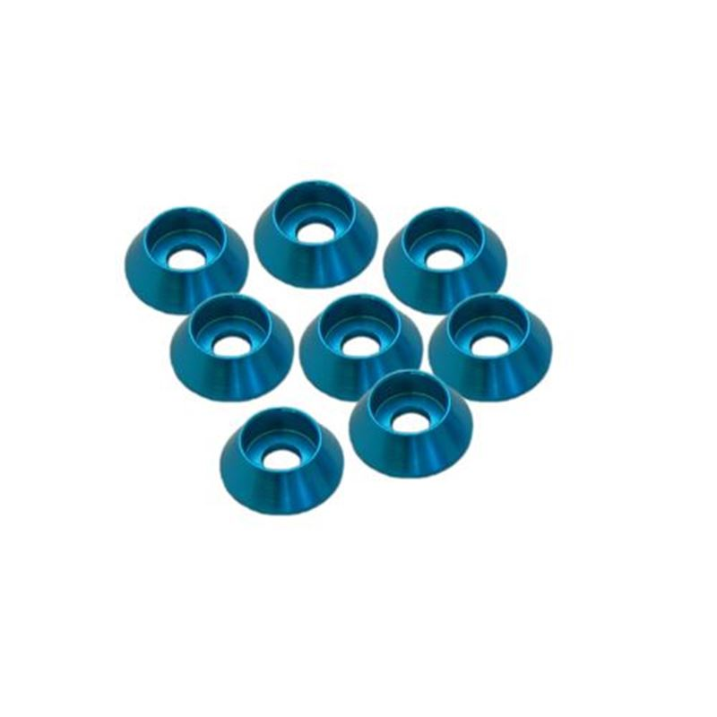 Picture of Ultimate Racing Cap Head Washer (Blue) (3mm) (8pcs)