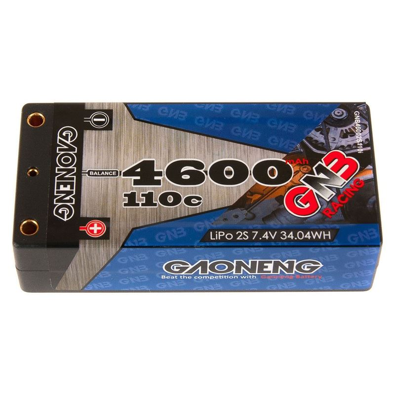 Picture of GNB Racing 2S 110C LiPo Shorty Battery Pack (7.4V/4600mAh)